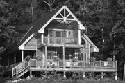 Cabin Style House Plan - 3 Beds 2 Baths 1370 Sq/Ft Plan #118-167