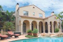 Dream House Plan - Mediterranean Exterior - Rear Elevation Plan #1058-19