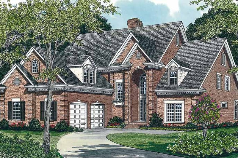 Traditional Exterior - Front Elevation Plan #453-120 - Houseplans.com