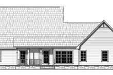 House Plan Design - European Exterior - Rear Elevation Plan #21-439