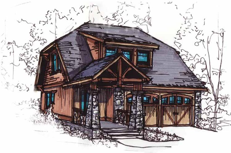 Architectural House Design - Craftsman Exterior - Front Elevation Plan #17-2912