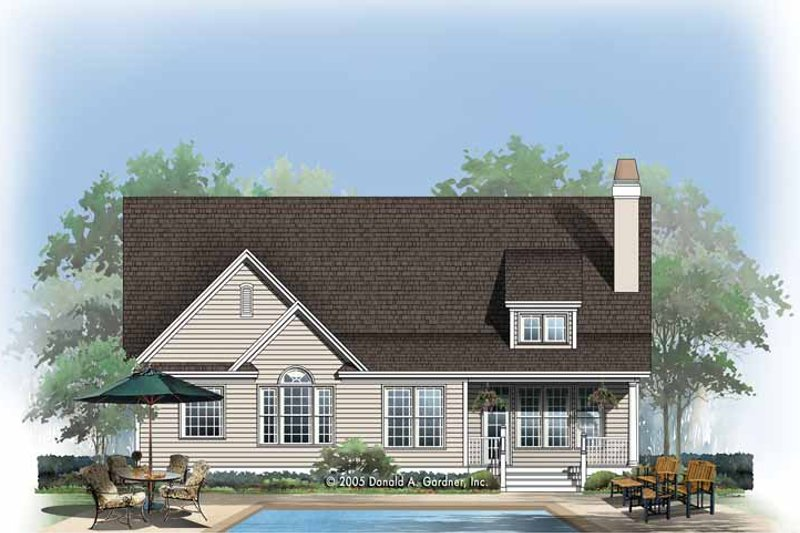 Country Exterior - Rear Elevation Plan #929-765 - Houseplans.com