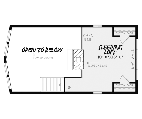 Contemporary Floor Plan - Upper Floor Plan Plan #17-3376