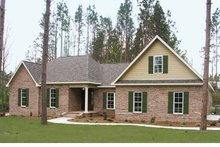 Country Exterior - Front Elevation Plan #21-413