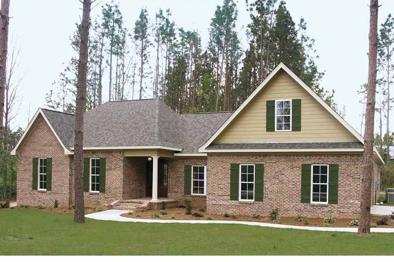 Country Exterior - Front Elevation Plan #21-413 - Houseplans.com