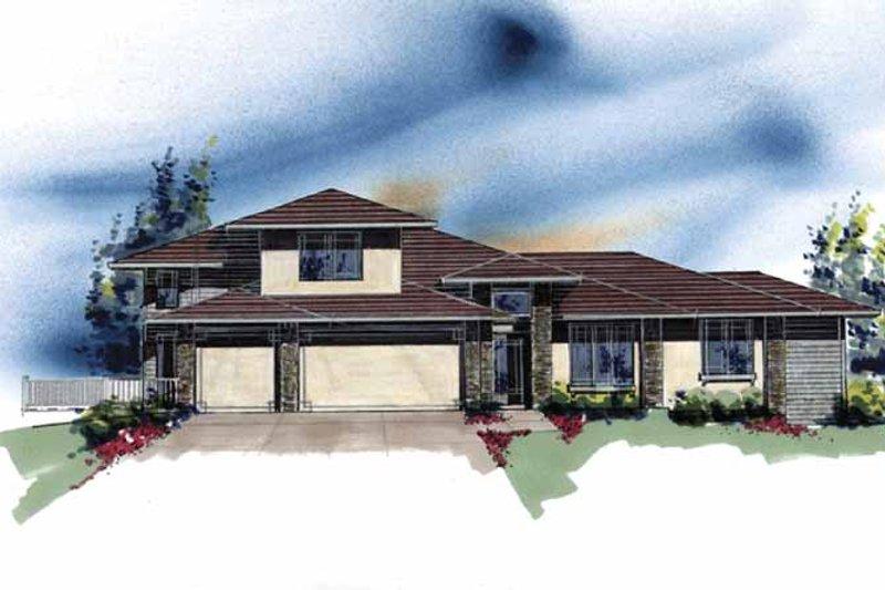 Craftsman Exterior - Front Elevation Plan #509-405 - Houseplans.com