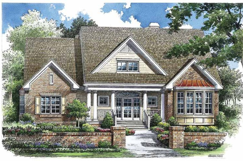 Dream House Plan - Traditional Exterior - Front Elevation Plan #929-769