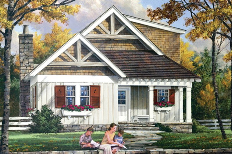 House Plan Design - Craftsman Exterior - Front Elevation Plan #137-363
