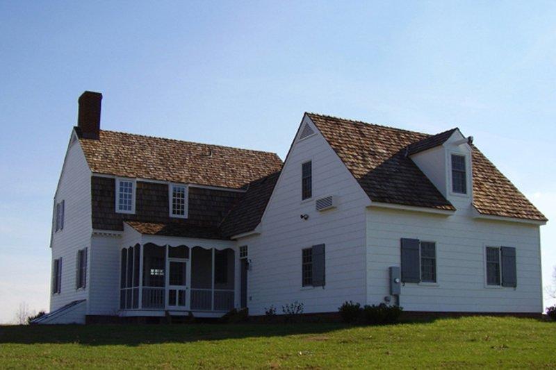 Colonial Exterior - Rear Elevation Plan #137-342 - Houseplans.com