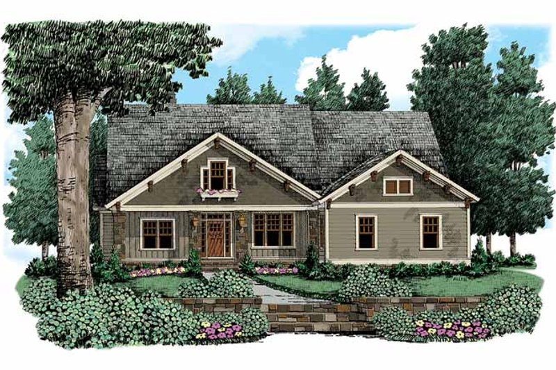 Craftsman Exterior - Front Elevation Plan #927-333