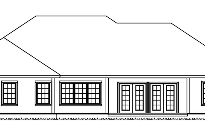 Ranch Exterior - Rear Elevation Plan #513-2160 - Houseplans.com