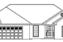 Ranch Exterior - Front Elevation Plan #17-2841