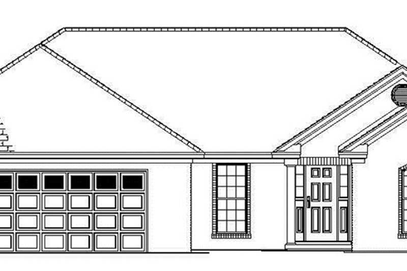 Ranch Exterior - Front Elevation Plan #17-2841 - Houseplans.com