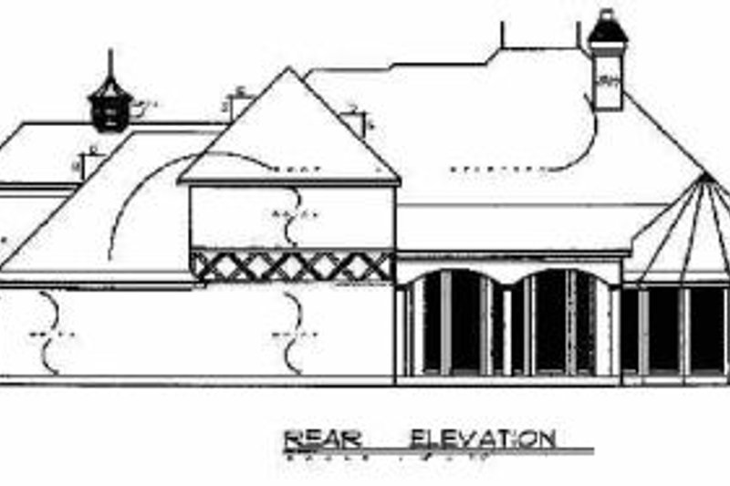 European Exterior - Rear Elevation Plan #40-195 - Houseplans.com
