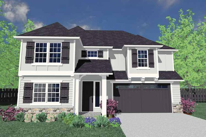 Traditional Exterior - Front Elevation Plan #509-277 - Houseplans.com