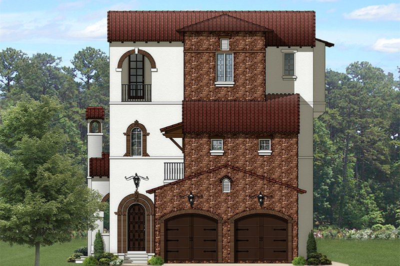 Dream House Plan - Mediterranean Exterior - Front Elevation Plan #1058-155