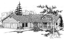 Ranch Exterior - Front Elevation Plan #60-151