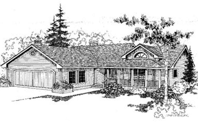 Ranch Exterior - Front Elevation Plan #60-151 - Houseplans.com