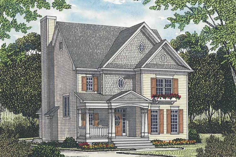 Traditional Exterior - Front Elevation Plan #453-525 - Houseplans.com