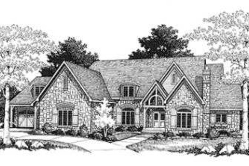 European Exterior - Front Elevation Plan #70-549