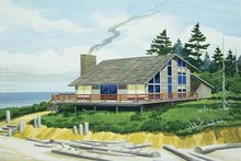 Contemporary Exterior - Front Elevation Plan #320-809