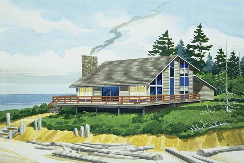 Contemporary Exterior - Front Elevation Plan #320-809 - Houseplans.com