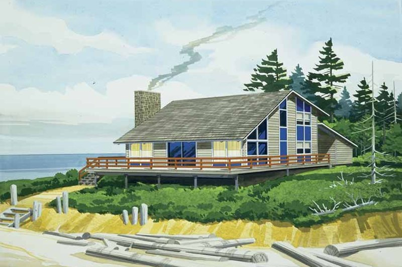 Home Plan - Contemporary Exterior - Front Elevation Plan #320-809