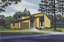 Architectural House Design - Contemporary Exterior - Front Elevation Plan #320-818