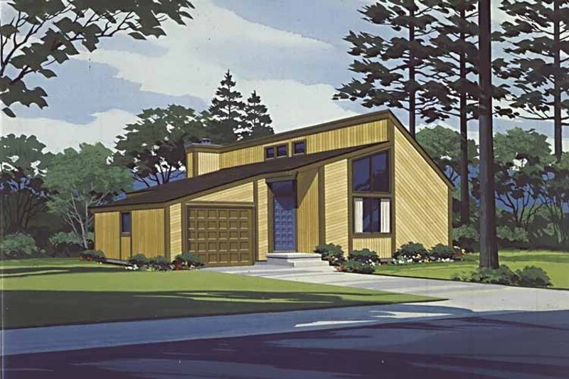 Contemporary Exterior - Front Elevation Plan #320-818