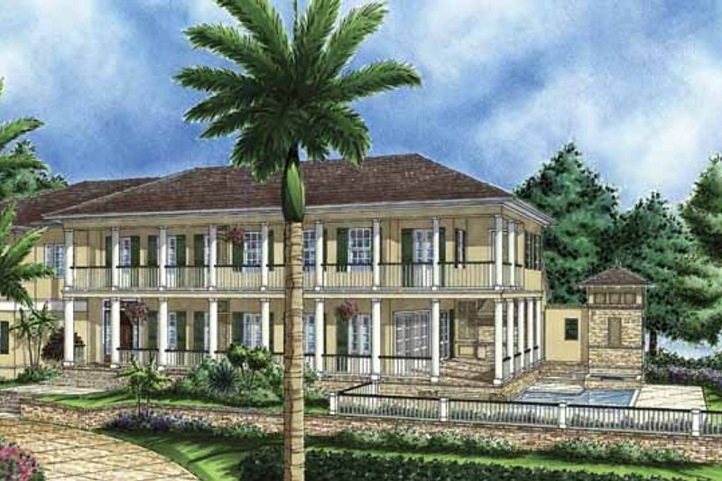 Dream House Plan - Southern Exterior - Front Elevation Plan #1017-60