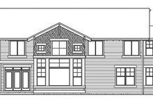 Craftsman Exterior - Rear Elevation Plan #132-442