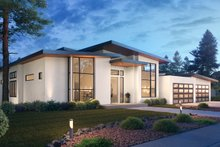 Dream House Plan - Contemporary Exterior - Other Elevation Plan #1066-112