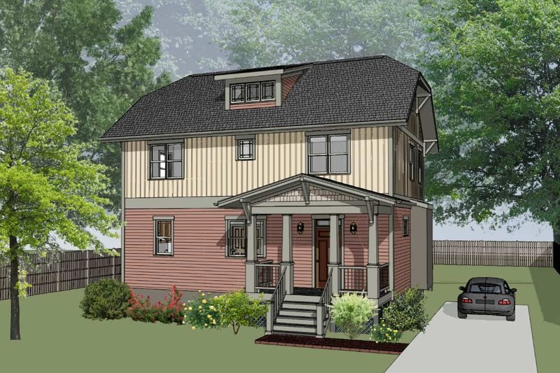 Craftsman Exterior - Front Elevation Plan #79-297