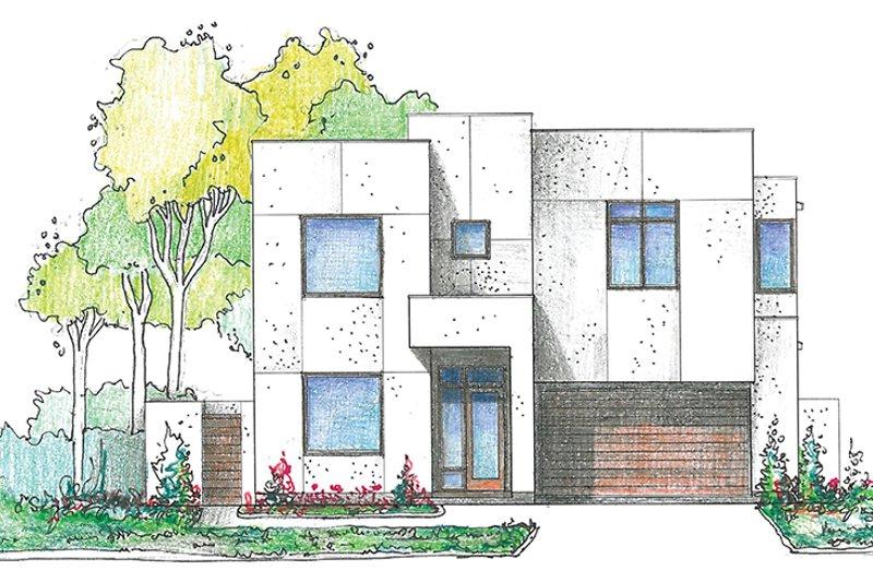 Contemporary Exterior - Front Elevation Plan #1021-17 - Houseplans.com
