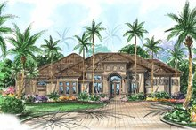 Architectural House Design - Mediterranean Exterior - Front Elevation Plan #1017-23