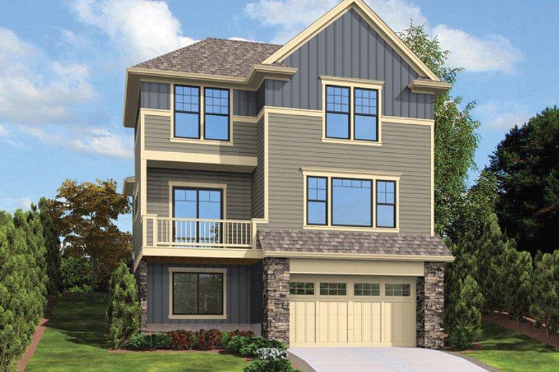 Craftsman Exterior - Rear Elevation Plan #48-911 - Houseplans.com
