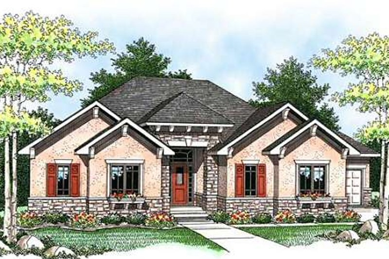 Dream House Plan - Craftsman Exterior - Front Elevation Plan #70-923