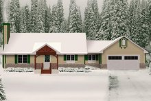 Architectural House Design - Ranch Exterior - Front Elevation Plan #22-511
