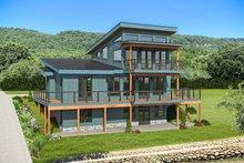House Plan Design - Modern Exterior - Rear Elevation Plan #932-384