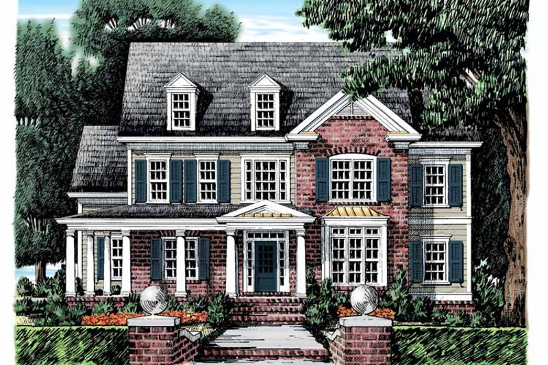 Classical Exterior - Front Elevation Plan #927-882