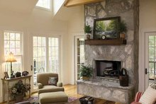 Craftsman Interior - Family Room Plan #929-754