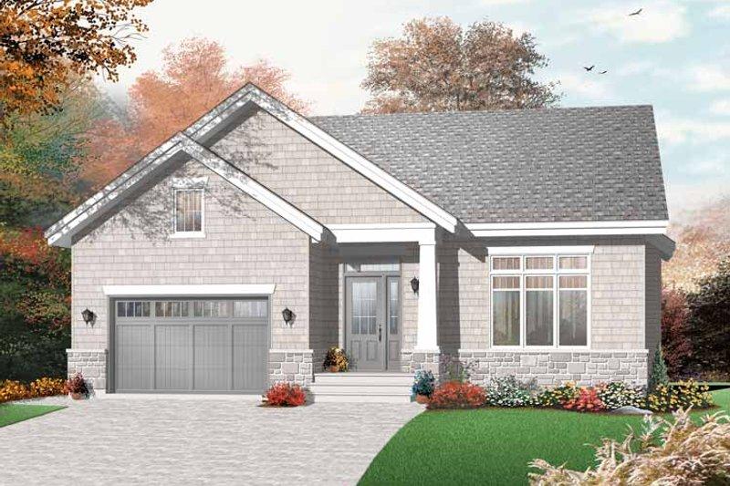 House Plan Design - Craftsman Exterior - Front Elevation Plan #23-2437