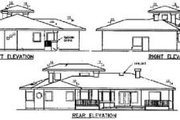 Traditional Style House Plan - 3 Beds 2.5 Baths 2048 Sq/Ft Plan #60-229 Exterior - Rear Elevation