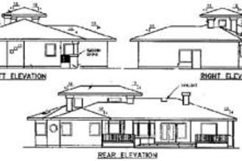 Traditional Exterior - Rear Elevation Plan #60-229 - Houseplans.com