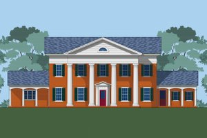 Classical Exterior - Front Elevation Plan #492-4