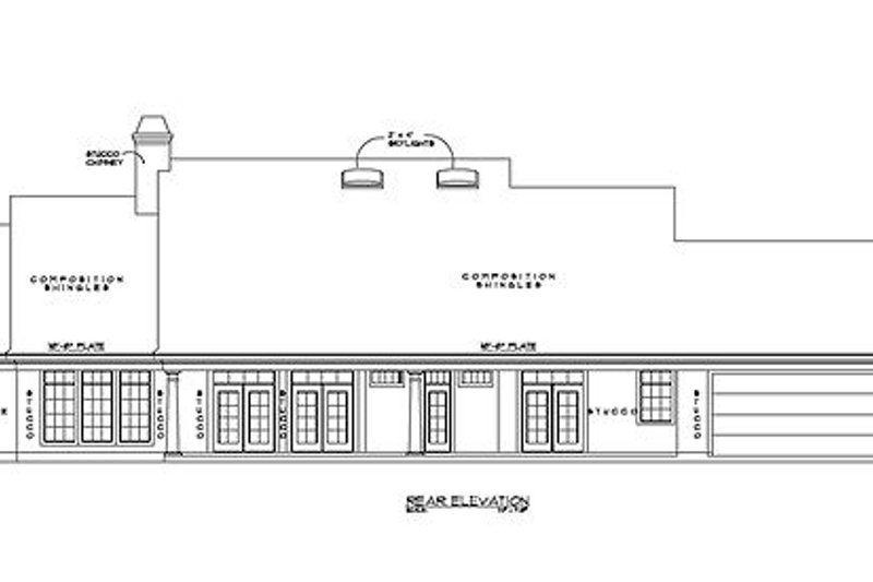 Southern Exterior - Rear Elevation Plan #61-220 - Houseplans.com