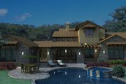 Mediterranean Style House Plan - 4 Beds 3.5 Baths 3691 Sq/Ft Plan #120-163 Exterior - Outdoor Living