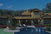 House Plan Design - Mediterranean Exterior - Outdoor Living Plan #120-163