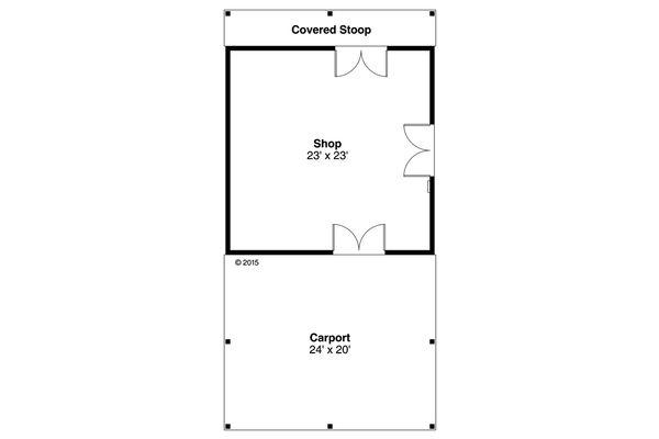 Cottage Floor Plan - Main Floor Plan Plan #124-998