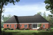 Southern Style House Plan - 3 Beds 2.5 Baths 1992 Sq/Ft Plan #21-234 Exterior - Rear Elevation